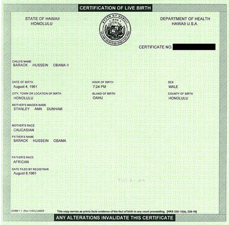 Barack Obamas Natal Chart According To His Birth Certificate